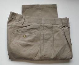 Mens Pants with pleats Today's Man  Khaki  34x32  34x34  36x30  42x32 - $19.76