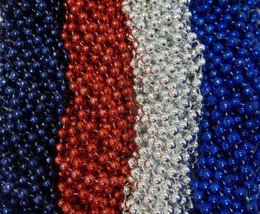 48 Colts Patriots Mardi Gras Beads Party Favors Football Tailgate Patriotic - $19.69 CAD