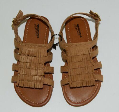 Arizona Jean Company 199638 Childrens Light Tan Fringe Sandals Size 13 Medium