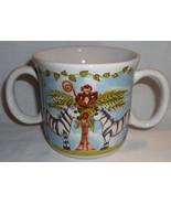 Mes Ames Essex Kids Double Handle Mug Safari Animals Heather Outlaw Kurpis - $12.99