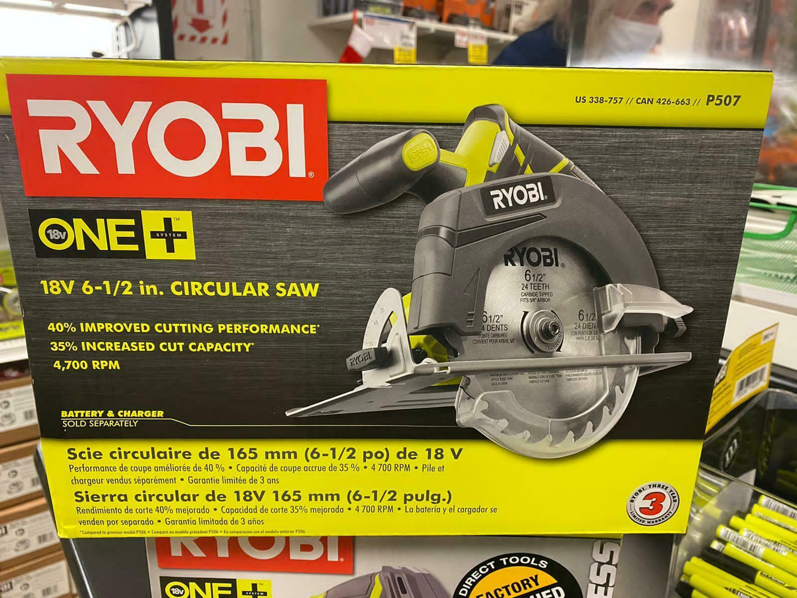 Circular Saw (Tool Only)  18-Volt ONE+ Cordless 6-1/2 in. We Ship Overseas - $69.29