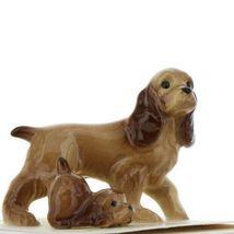 Hagen Renaker Miniature Dog Cocker Spaniel Papa and Pup Ceramic Figurine Set image 9