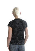 Famous Stars & Straps Womens Black or White Delirious Juniors T-Shirt 101672 NWT image 3