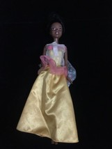 Barbie Afircan American Doll Figure Golden Dress Pre-owned! - $11.75