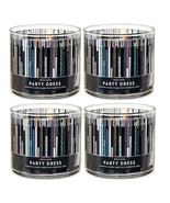 White Barn Party Dress 3 Wick Scented Candle 14.5 oz - Lot of 4 - $99.99