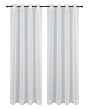Urbanest Chamon Set of 2 Sheer Curtain Drapery Panels with Grommets image 4