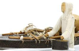 Greenlandic Inuit Miniature Skin on Frame Kayak Model in Exceptional Condition image 12