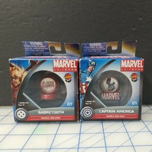 Marvel Universe Marbs & Base - Captain America & Sabertooth - Series 1 -... - $9.46