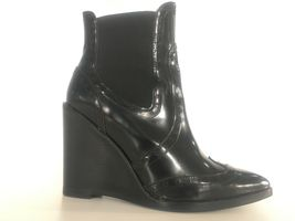 Jeffrey Campbell Black Leather Wingtip Style Ankle Bootie - 10, Worn Only Twice - $125.00