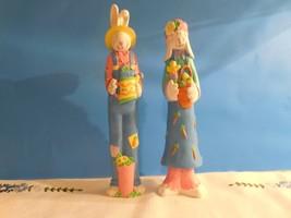 "Mr. & Mrs. Easter Bunny ""Pencil"" figures  -  - $4.94"
