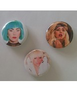 "(3) 1.25"" Handmade Pinback Button Badge Lady Gaga 1¼"" Pins (Approx. 32mm) - $2.95"