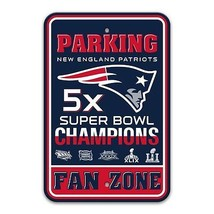 DAMAGED NFL 12x18 PLASTIC STYRENE PARKING 5 TIME CHAMPIONS NEW ENGLAND P... - €16,89 EUR