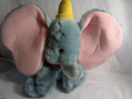 "Disney Store Authentic Dumbo Medium Sitting Soft Plush 12"" Toy - $10.40"