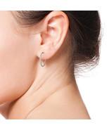14 K White Gold 3/4-1 CT Natural Diamond Hoop Earring IGI certfied for ... - $589.99