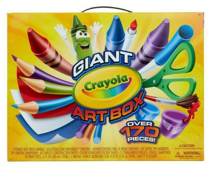 Crayola Giant Art Box 177pc Crayons Markers Colored Pencils Drawing Kids Art NIB
