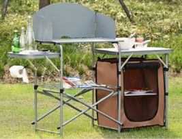Portable Camping Table Outdoor Folding Tables Grilling Prep Station Fish... - $124.55
