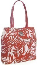 OCTAVE® Ladies Coco Husk Themed Paper Straw Summer / Beach Bag - Red - $11.64