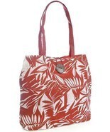 OCTAVE® Ladies Coco Husk Themed Paper Straw Summer / Beach Bag - Red - £9.11 GBP