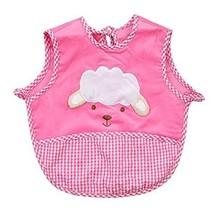 Cute Cartoon Sheep Sleeveless Baby Bibs Baby Feeding Bibs Dark PINK, 0-2 Years
