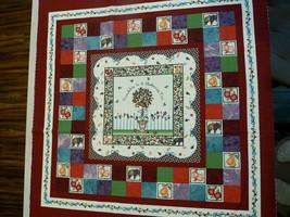 """Daisy Kingdom Folk Art Friendship Tree Quilt Fabric Panel 45"""" W X 36"""" L ... - $9.89"""