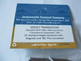 Jacksonville Terminal Company # 205327 Transocean 20'  Standard Container  (N) image 2