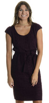 NWT M Jessica Simpson Cable Knit Cap Sleeve Belted Shift Dress in Potent... - £40.91 GBP