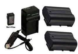 2X EN-EL15 Batteries + Charger for Nikon D800 D800E D7000 D7100 D7200 DSLR 1 V1 - $44.99