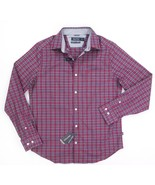 NEW NAUTICA RESCUE RED MICRO PLAID CLASSIC FIT STRETCH BUTTON DOWN SHIRT... - $23.75
