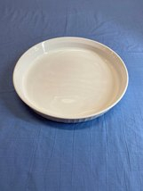 Vintage Solid White Corning Ware Range 25 Cm Oven Microwave Plate Baking Dish - $10.99