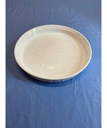Vintage Solid White Corning Ware Range 25 Cm Oven Microwave Plate Baking... - $10.99