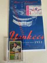 1952 ORIGINAL YANKEE BASEBALL PROGRAM PLUS WS GAME TICKET/RIZZTO 1952 CARD - $147.51