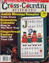 Cross Country Stitching Magazine Dec. 1998 Joy to the World, Gingerbread Factory - $12.50
