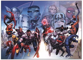 Jimmy Cheung SIGNED Avengers Marvel Art Print ~ Hulk Thor Iron Man Spiderman - $29.69