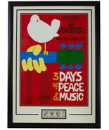 Woodstock Framed 18x25 Replica Tour Poster w/Original 3 Day Woodstock Ti... - $296.99