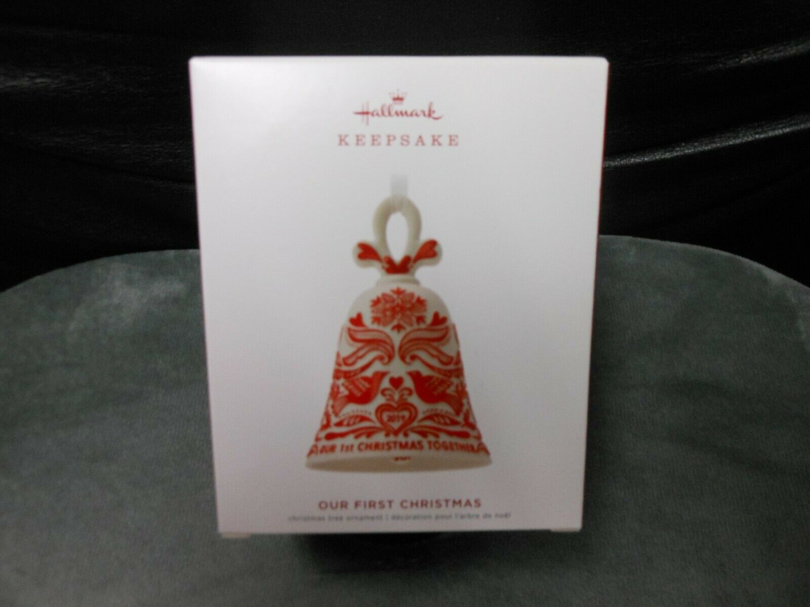 "Primary image for Hallmark Keepsake ""Our First Christmas"" 2019 Porcelain Ornament NEW"