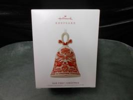 "Hallmark Keepsake ""Our First Christmas"" 2019 Porcelain Ornament NEW  - $4.85"