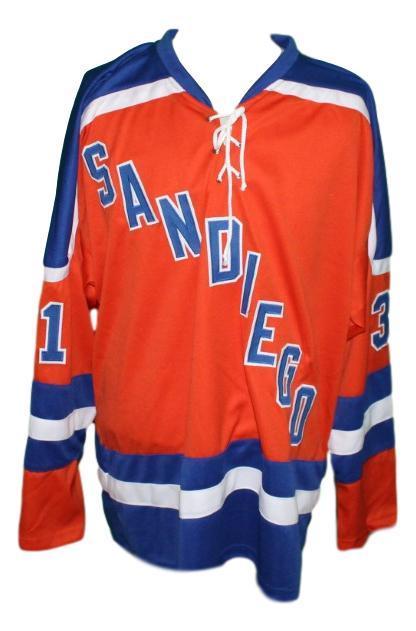 Ernie wakely  31 san diego mariners custom hockey jersey orange   1