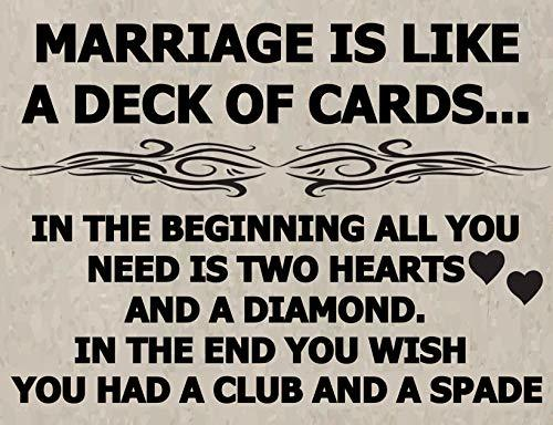Primary image for Top Shelf Novelties A Marriage is Like A Deck of Cards…in The Beginning All You