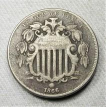 1866 Shield Nickel Coin AG793 - $54.12