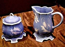 Kimberly Hodges Blue Pitcher and Container with Lid AA18-1254 Vintage Hallmark I image 4
