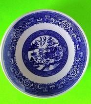 "Homer Laughlin Blue Willow Saucers Vintage Set of 5, 6"" Diameter USA - $6.80"