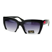 Giselle Lunettes Womens Sunglasses Cropped Cut Lips Kisses Frame - $8.95