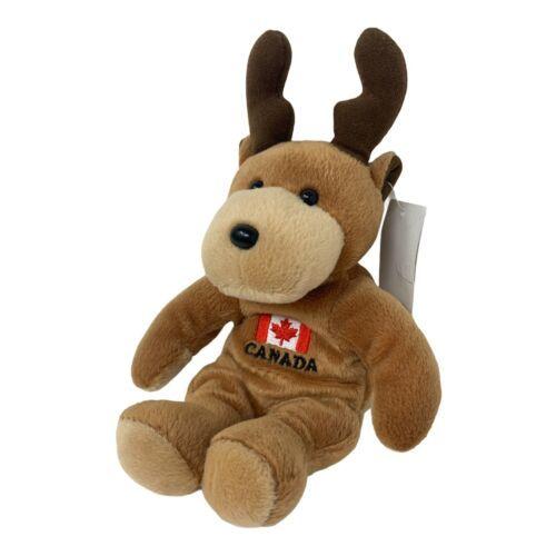 "Creature Comforts Oh Canada Plush Moose 7"" Stuffed Animal Canadian Flag Design - $9.99"