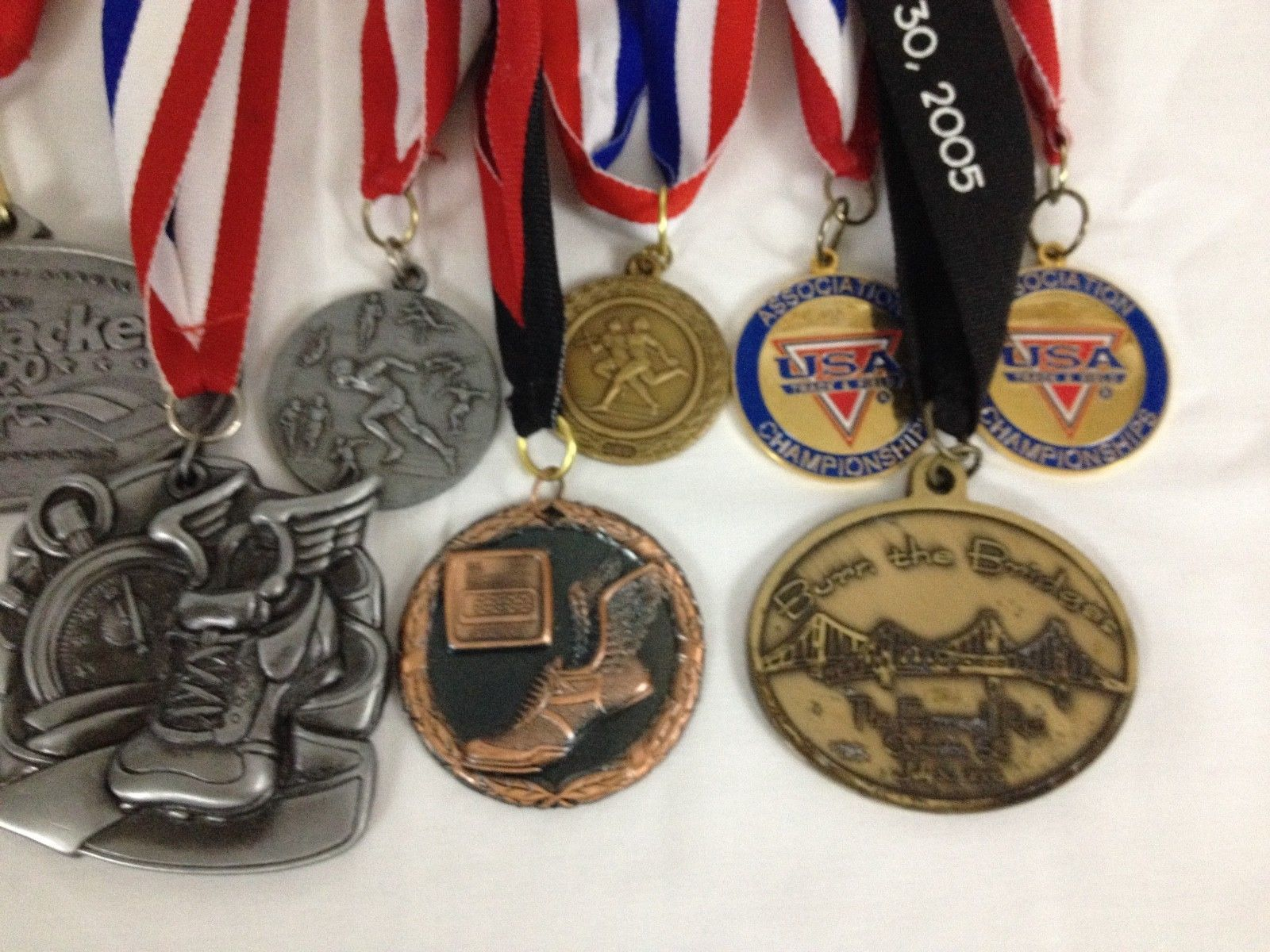 Lot of 14 Running Race Medals Medallions Awards From Various Events image 4