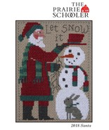 2018 Prairie Schooler Yearly Santa cross stitch Prairie Schooler - $5.00