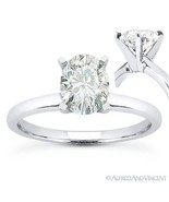 Oval Brilliant Cut Moissanite 14k White Gold 4-Prong Solitaire Engagemen... - €377,21 EUR+