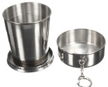 240ML Stainless Steel Portable Folding Telescopic Collapsible Outdoor Travel Cup