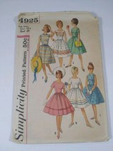 Vintage 40s-60s Women's Casual Dress Patterns 4925 - $28.04