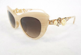 DOLCE & GABBANA Women's Sunglasses DG4302BF Ivory 52-19-145 MADE IN ITAL... - $175.00