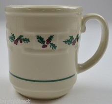 Longaberger Pottery Holly Pattern Mug Collectible China Tableware Christmas - $23.99